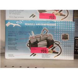 New 12 V Seagull Air Compressor w/ Battery Cables