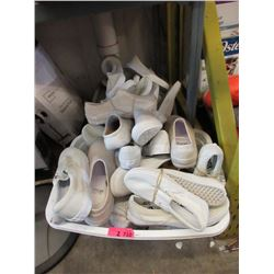 2 Baskets of Assorted White Shoes