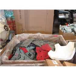 Large Box of Paint Ball Chest Shields & Clothing