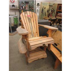 2 Pine Wood Adirondack Chairs