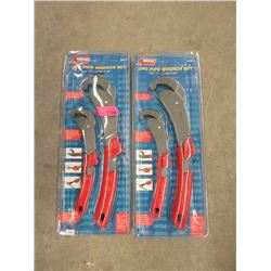 2 New 2 Piece Pipe Wrench Sets