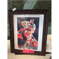Autographed Ted Lindsay Hockey Photo