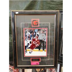 Framed Theoren Fleury Calgary Flames Photo