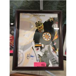 Autographed Andy Moog Hockey Photo