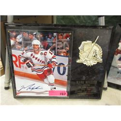 Mark Messier Autographed Photo with Plaque
