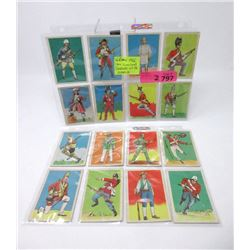 "16 Rare 1966 ""Soldiers of the World"" Gum Cards"