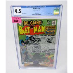 "Graded 1968  80 Page Giant ""Bat Man #203"" Comic"