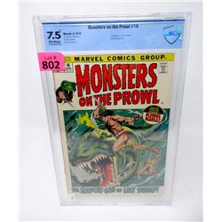 """Graded 1972  """"Monsters on the Prowl #16"""" Comic"""