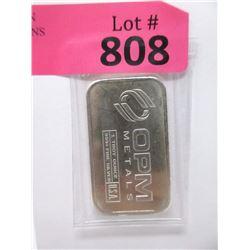 """1 Oz. .999 Fine Silver """"OPM"""" Investors Bar"""