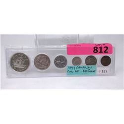 1949 Canadian .800 Silver Coin Set