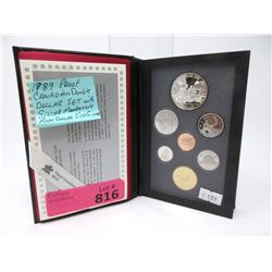 1989 Canadian Double Dollar Proof Coin Set