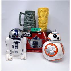 Star Wars Tea Pot, C3PO Tiki Mug, Banks & more