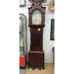1860's Victorian Painted Face Grandfather Clock