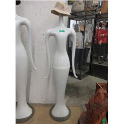 6 Foot Tall Mannequin with Hat