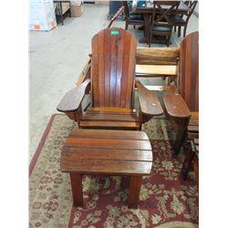 Tofino Cedar Adirondack Chair with Side Table