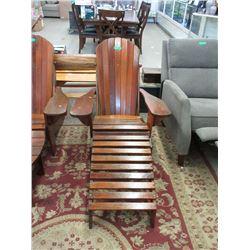 Tofino Cedar Adirondack Chair with Foot Stool