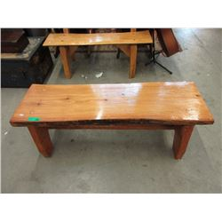 Handcrafted Live Edge Garden Bench/Coffee Table