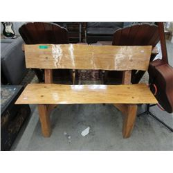 Handcrafted Live Edge Cedar Garden Bench