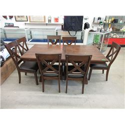 Dining Table with Leaf and 7 Chairs
