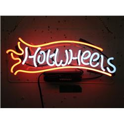 """New Electric Neon """"Hot Wheels"""" Sign"""