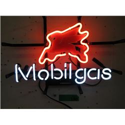 """New Electric Neon Mobil Gas Sign - 15"""" x 12"""""""
