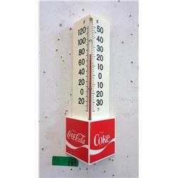 Vintage Coca-Cola Triangle Thermometer