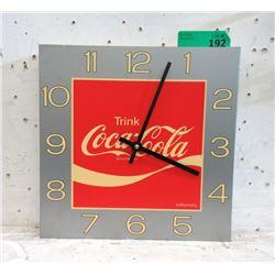 """Vintage German """"Trink Coca-Cola"""" Clock"""
