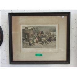 Vintage S. Sanderson Wells Framed Print