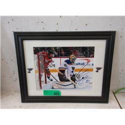 Carter Hutton Autographed Hockey Photo