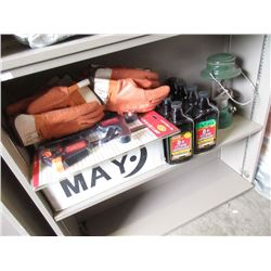 Rubber Chemical Gloves, Box of Bulbs & More