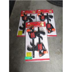 3 New 2 Piece Wood Clamp Sets