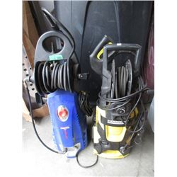 2 Portable Electric Pressure Washers