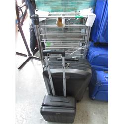 2 Rolling Luggage and 2 Dryer Racks - Store Return