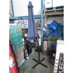 Blue Offset Patio Umbrella - Store return