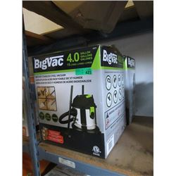 Two 4 Gallon Stainless Steel Wet/Dry Vacuums