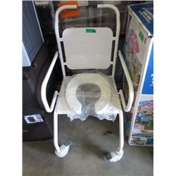 Rolling Commode Chair  - Like New