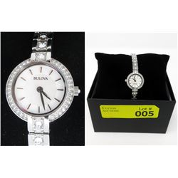 New in Box Mother of Pearl Bulova Watch