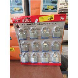 12 Laminated Security Pad Locks