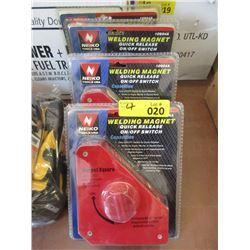 4 New Quick Release Corner Welding Magnets