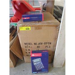 Case of 40 New Amax Desktop Calculators