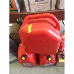 One 5.3 Gallon & Two 6.6 Gallon Gas Cans