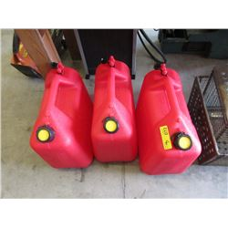 3 New 20 Litre Gas Cans