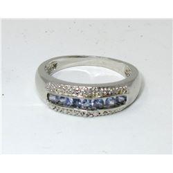 Tanzanite & Diamond Channel Set Ring