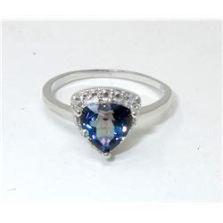 Ocean Blue Mystic Topaz & Diamond Ring