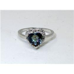 Sweetheart Mystic Topaz & Diamond Ring