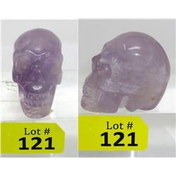 651 CT Carved 3D Amethyst Gemstone Skull