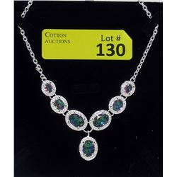 60 CTW Rainbow Mystic Topaz Necklace