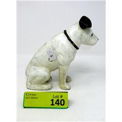 "Cast Iron RCA Nipper Dog Bank - 2.5"" x 6"" x 6"""