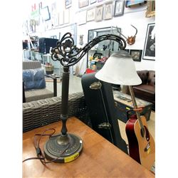 "Ornate Antique Style Desk Lamp - 22"" Tall"