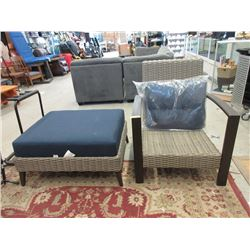 Patio Arm Chair and Ottoman - Store Returns